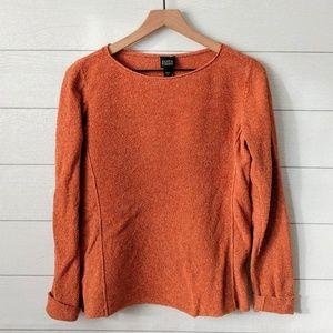 Eileen Fisher Burnt Orange Silk Sweater M